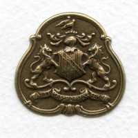 Royal Order Crest Oxidized Brass Stamping (3)