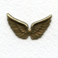 Small Wings Oxidized Brass 29mm