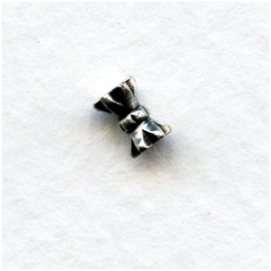 Hour Glass Shape Oxidized Silver Spacer Beads 3x6mm