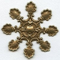 Leaf Medallion Oxidized Brass 95mm (1)