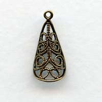 Filigree Cone With A Loop Oxidized Brass (4)