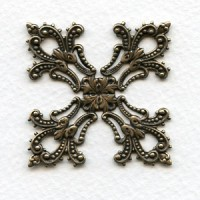 Maltese Cross Filigree Stamping in Oxidized Brass (1)