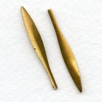 Petals Leaves Spikes Vertical Interest Raw Brass 38mm