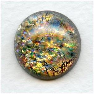 Multi Color Glass Opal Cabochon 18mm European