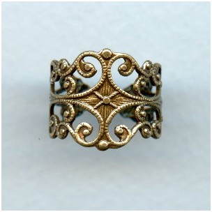 Filigree Adjustable Finger Ring Oxidized Brass (1)