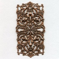 Most Grand of All Oxidized Copper Stamping 5+ Inches (1)