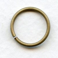 Jump Rings 16mm Round Oxidized Brass