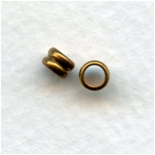 Spacer Tube Rings Raw Brass 4mm (24)