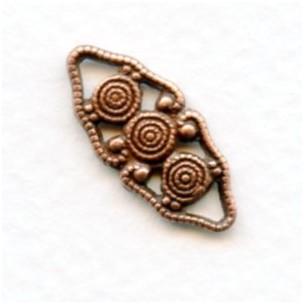 ^Decorative Filigree Connector Oxidized Copper 21mm (12)