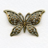 Highly Detailed Filigree Butterfly European Brass (1)