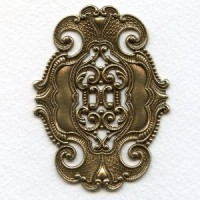 Elegant Style Dramatic Stamping Oxidized Brass (1)
