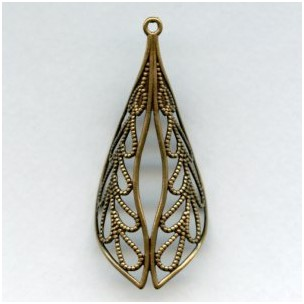 Filigree Made for Wrapping Oxidized Brass 58mm