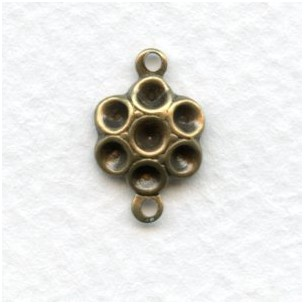 Connector to Hold Rhinestones Oxidized Brass
