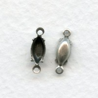 Navette Setting Connectors Oxidized Silver 8x4mm