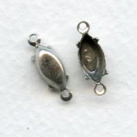 Navette Setting Connectors Oxidized Silver 10x5mm