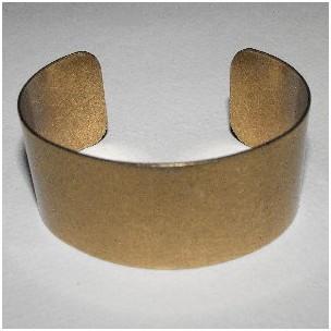 Smooth Oxidized Brass Flat Cuff 28mm (1)