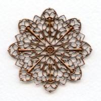 ^Round Ornate Filigree Oxidized Copper 47mm (1)