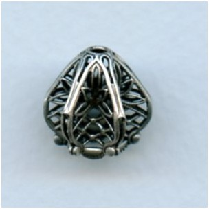 Exquisite Filigree Bead Cap Oxidized Silver 16mm (1)