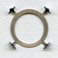 Open Back Turtle Style Settings 25mm Oxidized Silver (3)