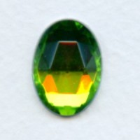 Vitrail Med Flat Back Faceted Top 18x13mm Jewelry Stone