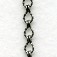 Ladder Chain Antique Silver 4x4mm Links (3 ft)