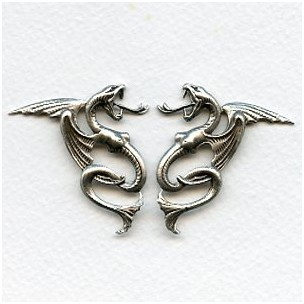 Echinda Dragons Oxidized Silver Right and Left