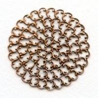 ^Filigree Round Flat 48mm Oxidized Copper (1)
