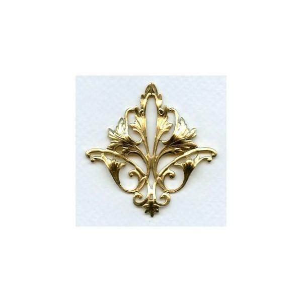 fleur de lys openwork raw brass stamping 1. Black Bedroom Furniture Sets. Home Design Ideas