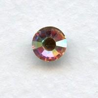 ^Round Crystal AB Foiled Rhinestones Flat Back 30SS