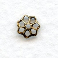 Filigree Petal Bead Caps 7mm Oxidized Brass (24)