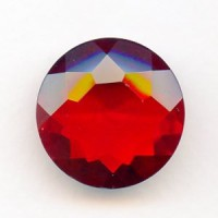 Ruby Glass Round 25mm Unfoiled Jewelry Stone (1)