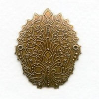 ^Embossed Shapes Oxidized Brass 34mm (4)