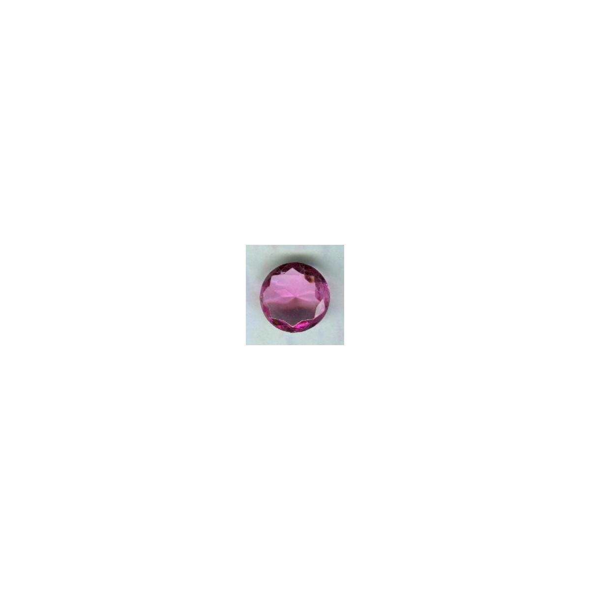 Rose Pink Glass Round 18mm Unfoiled Jewelry Stone