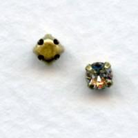 ^Tiffany Set Oxidized Brass Austrian Crystals 16SS (12)