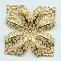 Four Points Large Filigree Raw Brass 53mm (1)