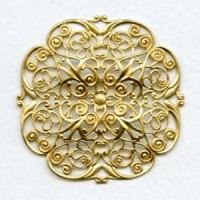 Ornate Filigree Raw Brass 47mm (1)