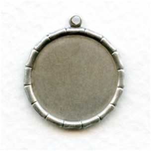 Bamboo Edge 18mm Setting with Loop Oxidized Silver (6)