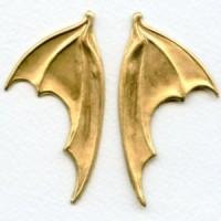 Dragon or Bat Wings Raw Brass 68mm (1 set)