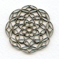 Filigree Round Stampings Oxidized Silver 38mm (3)