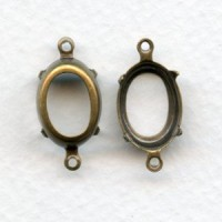 Setting Connectors 14x10mm Oxidized Brass (12)