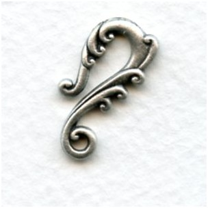 Curvy Tendrils Necklace Hooks Oxidized Silver 22mm (4)