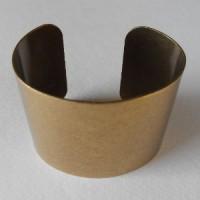 Smooth Wide Cuff Oxidized Brass 49mm