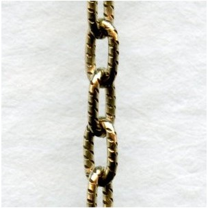 Dainty Cable Chain 4x2mm Links Antique Gold Plated Steel (3 ft)