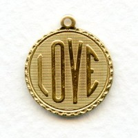 Love Charms Raw Brass 21mm (3)