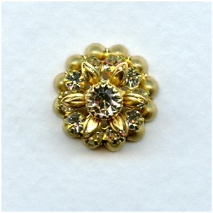 Multiple Stone Setting Cluster Crystal Raw Brass (1)