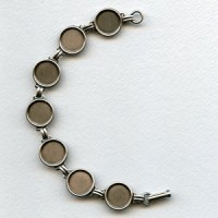 Linked Bracelet Finding Oxidized Silver 13mm Settings (1)