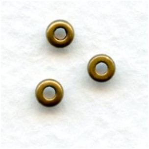 Rondelle Raw Brass Spacer Beads 3mm Smooth