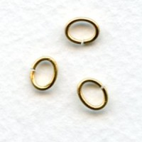 Oval Jump Rings Raw Brass 7x5mm (100)