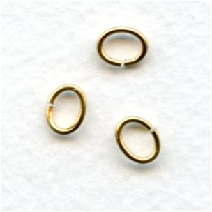 Oval Jump Rings Raw Brass 7x5mm (100)