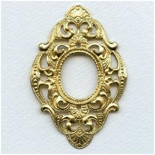 Embellished Framework Raw Brass Finery 76mm